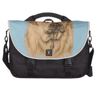 Cute Drawing of White Labrador Dog Laptop Messenger Bag