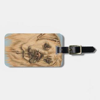 Cute Drawing of White Labrador Dog Travel Bag Tags
