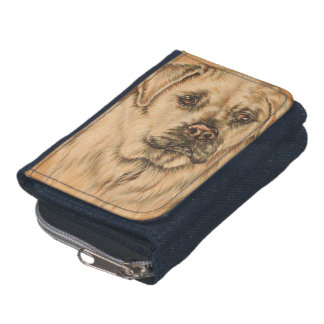 Cute Drawing of White Labrador Dog Wallet