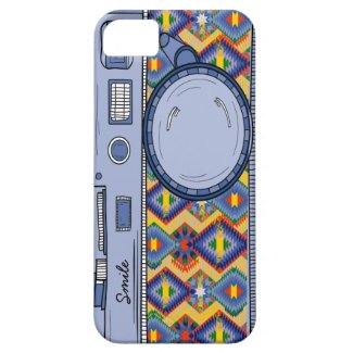 Cute Drawing Retro Blue Photo Camera iPhone Case iPhone 5 Covers
