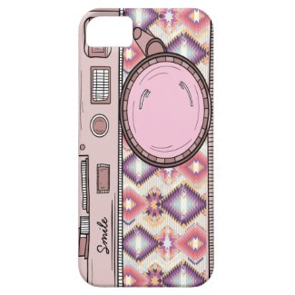 Cute Drawing Retro Pink Photo Camera iPhone Case iPhone 5 Covers