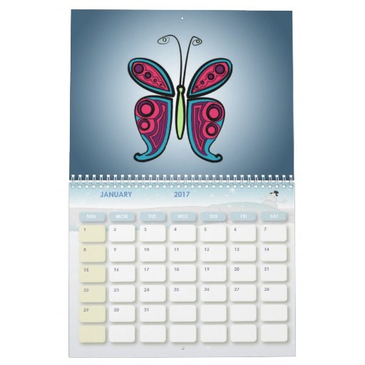 Cute Calendar Illustration : Cute drawings illustrations calendar zazzle