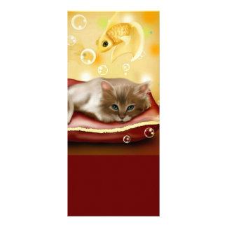 Cute Dream Kitten Bookmark Rack Card Template