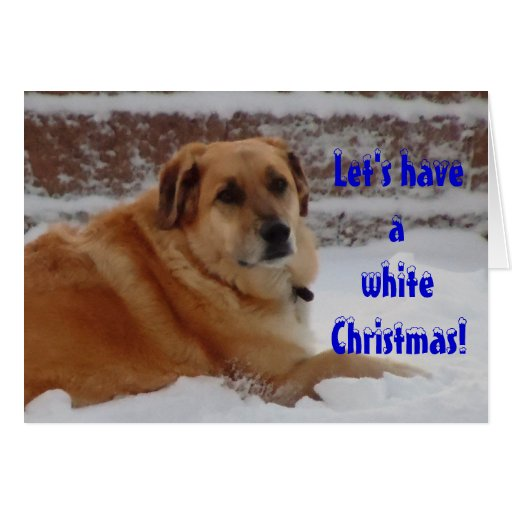 Cute Dreaming of White Christmas Snow Angel Greeting Card