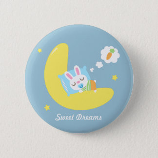 Cute Dreamland Baby Bunny For Kids Button