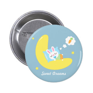 Cute Dreamland Baby Bunny For Kids 2 Inch Round Button
