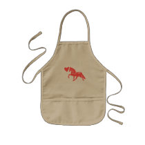Cute Dreamy Horse Any Girl Would Love Kids' Apron