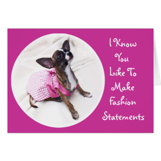 Cute Dressed Up Chihuahua Girl Card