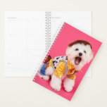 "Cute Dressed Up Dog Planner<br><div class=""desc"">A photo of an adorable dressed up dog on a bright pink background</div>"