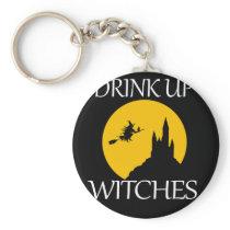 Cute Drink Up Halloween Witches Design Keychain