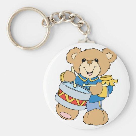 Cute Drummer Teddy Bear Keychain