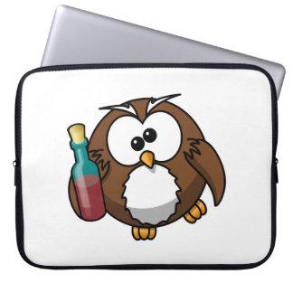 Cute Drunken Cartoon Owl Computer Sleeves