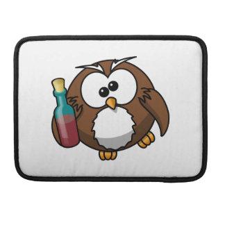 Cute Drunken Cartoon Owl Sleeves For MacBook Pro