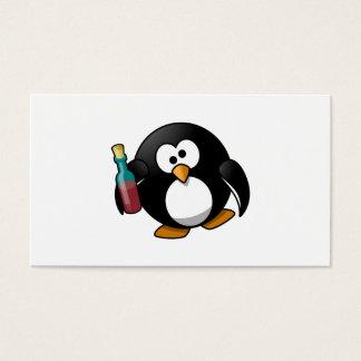 Cute Drunken Penguin Art Business Card