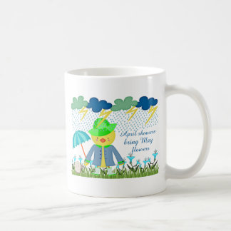 Cute Duck April Showers Bring May Flowers Coffee Mug