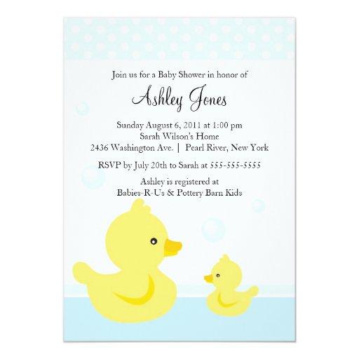 cute duck baby shower invitation zazzle