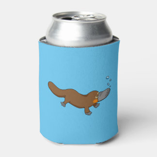 cute duck billed platypus can cooler