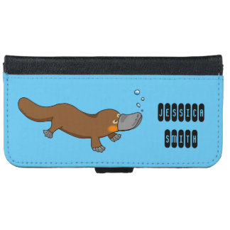 cute duck billed platypus wallet phone case for iPhone 6/6s