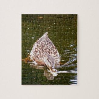 Cute Duck Feeding Jigsaw Puzzle