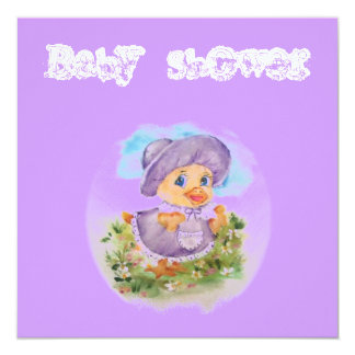 Cute duck girl card