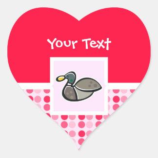 Cute Duck Heart Sticker