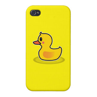 Cute Duck Swimming Cartoon Cover For iPhone 4