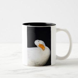 Cute Duck Two-Tone Coffee Mug