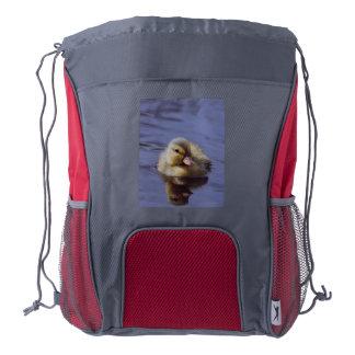 cute duckling drawstring backpack