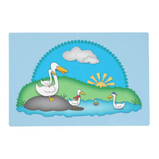 Cute Ducks at the Pond Placemat