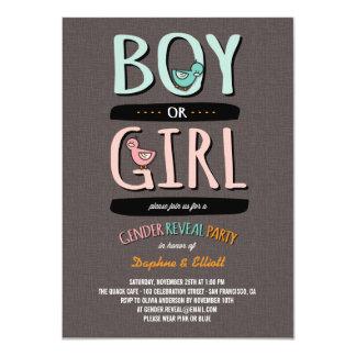 Cute Ducks Baby Boy or Girl Gender Reveal Party Card