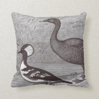 Cute Ducks Black and White Accent Throw Pillows