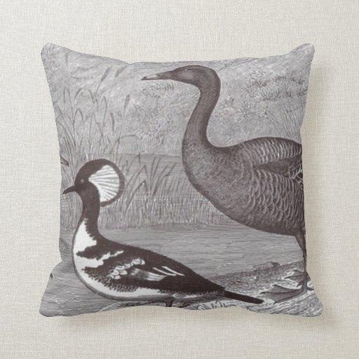 Cute Ducks Black and White Accent Throw Pillows Zazzle