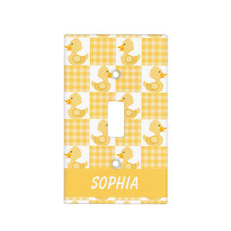 Cute Ducks (Yellow) Light Switch Cover