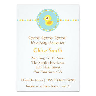 Cute Ducky, Colourful Baby Shower Invitation