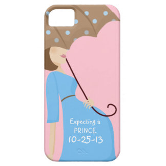 Cute Due Date Gender Reveal Pregnant Woman iPhone 5 Cases