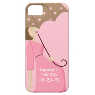 Cute Due Date Gender Reveal Pregnant Woman iPhone 5 Cover