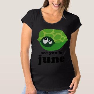 Cute Due In June Maternity T-shirt