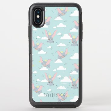 Cute Dumbo Blue Tribal Pattern OtterBox Symmetry iPhone XS Max Case