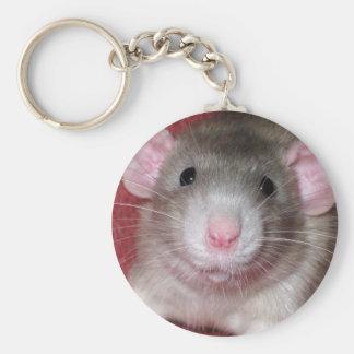 Cute Dumbo Rat Basic Round Button Keychain