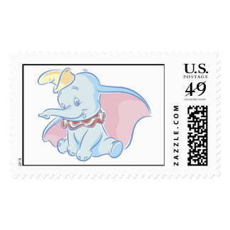 Cute Dumbo Sketch Postage Stamp