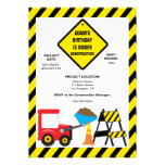 Cute Dump Construction Birthday Party Invite