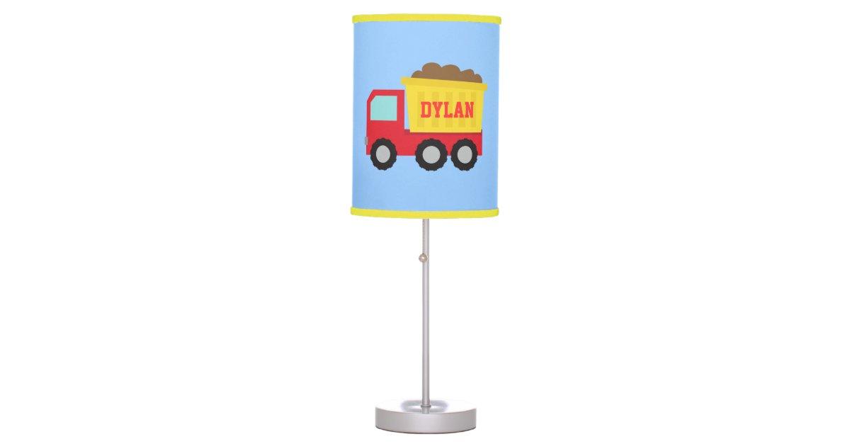 Construction Lamps For Boys : Cute dump truck construction vehicle boys room desk lamp