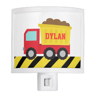 Cute Dump Truck, Construction Vehicle, Boys Room Night Light