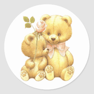 Cute Duo Classic Round Sticker