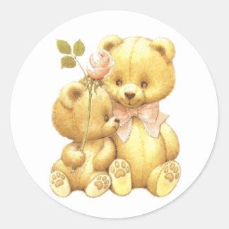 Cute Duo Classic Round Sticker