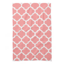 cute dusky pink quatrefoil towels