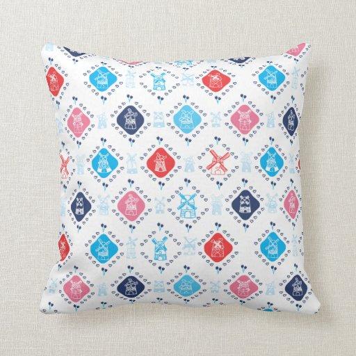 Cute dutch windmill tulip pattern pillow case
