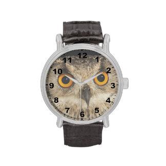 """""""Cute eagle owl eyes"""" design wrist watch"""