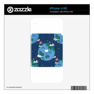 cute Earth Day iPhone 4S Decal