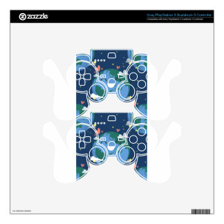 cute Earth Day Skin For PS3 Controller